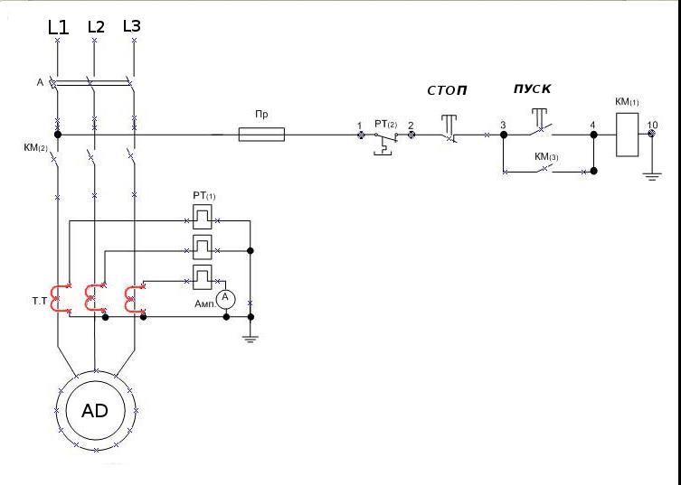sema kontrolya cherez TT Как самостоятельно подключить тепловое реле — обзор схем Фото