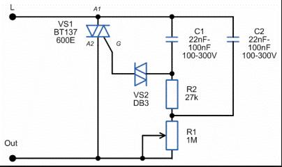 sxema dimmer 5 схем сборки самодельного светорегулятора Фото
