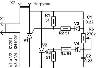 tirristornaja model 5 схем сборки самодельного светорегулятора Фото
