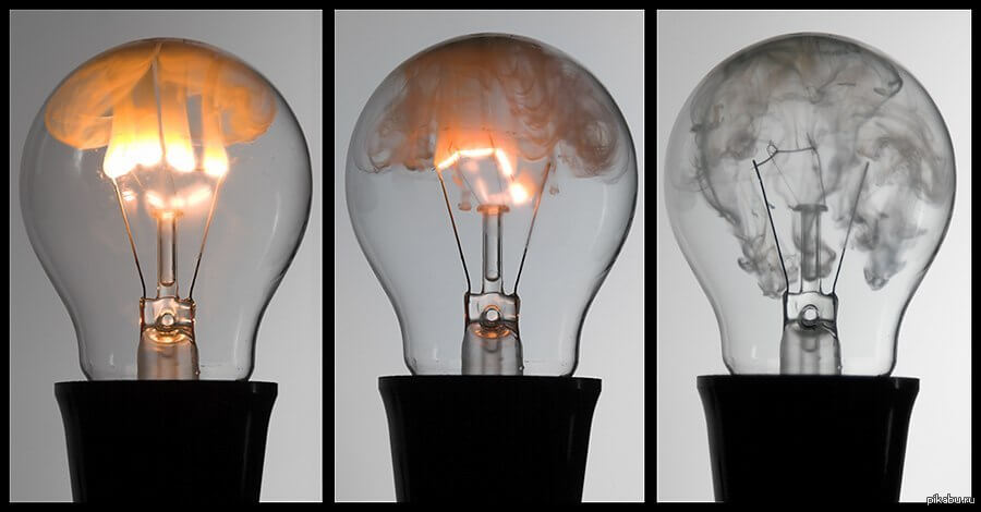 Перегорания лампы накаливания