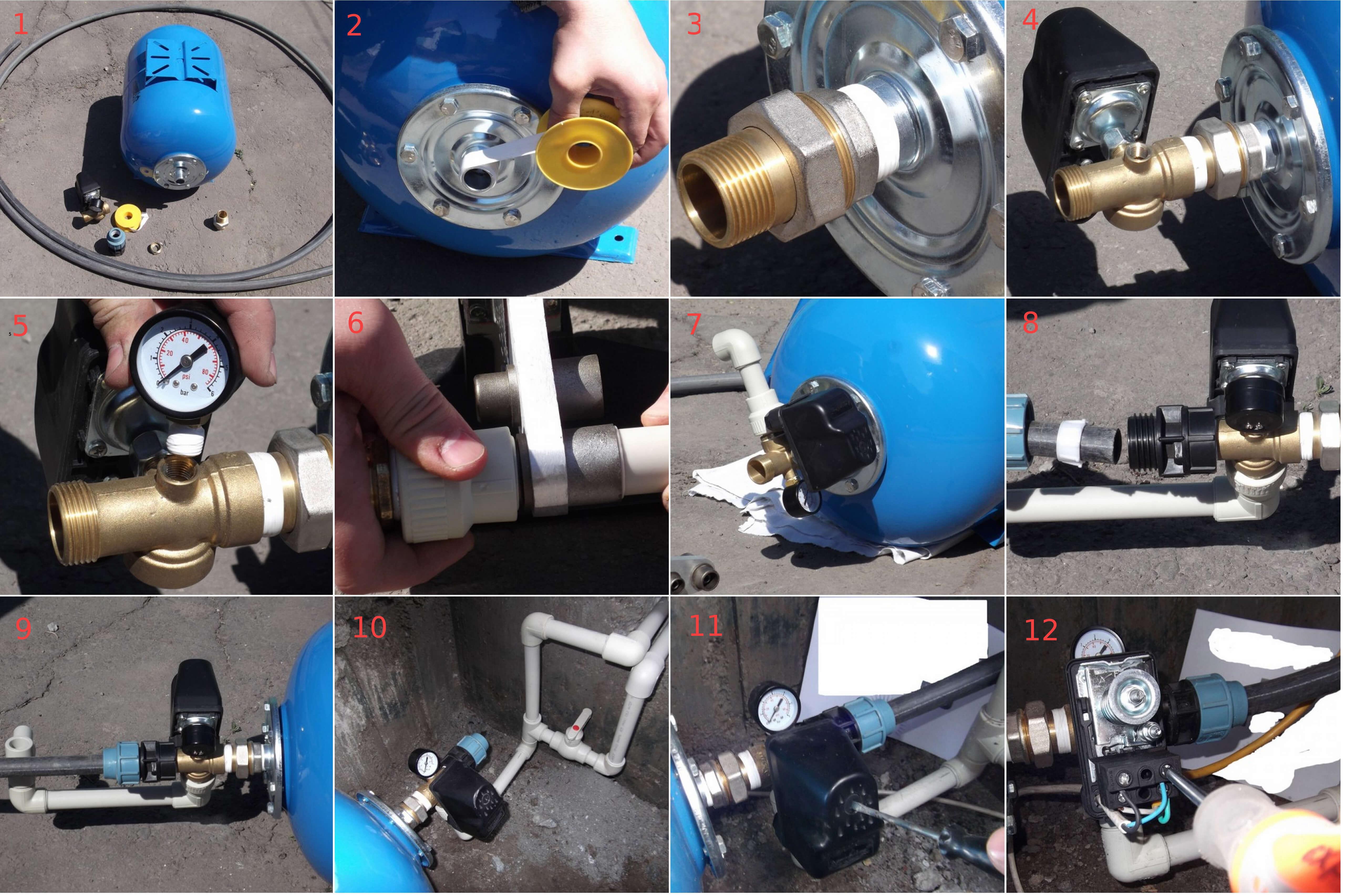 sborka Как правильно подключить скважинный насос? Фото