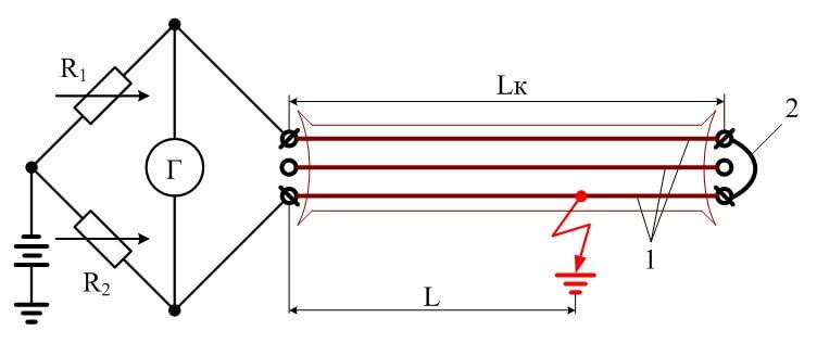 Схема подключения искателя