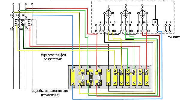 Схема монтажа ИКК