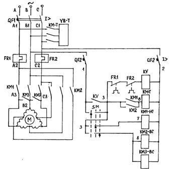 Электросхема двухскоростного двигателя
