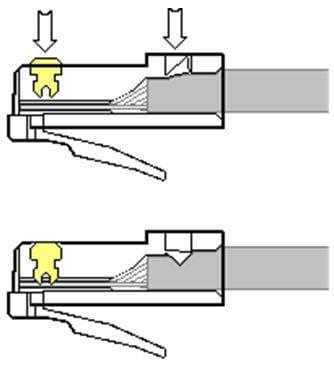 Подключение штекера rj45