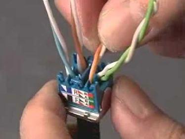 Подключение проводов сетевого кабеля