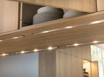 Размещение светодиодной ленты над столешницей