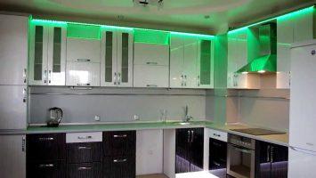Размещение RGB ленты над кухонным гарнитуром