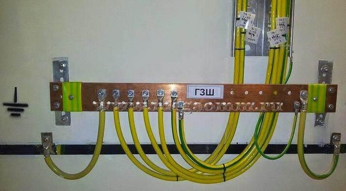 Соединение заземляющих проводников