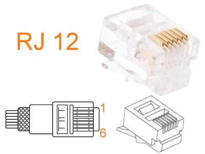 RJ 12 Как подключить телефонную розетку? Фото