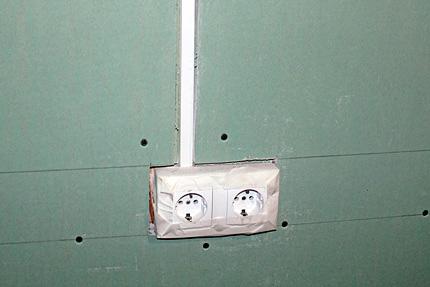 Проводка в СИП-доме
