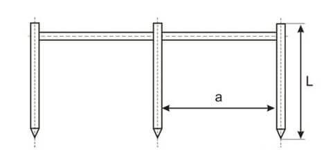 Длина и расстояние между стержнями