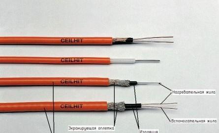 Как устроен резистивный греющий кабель?