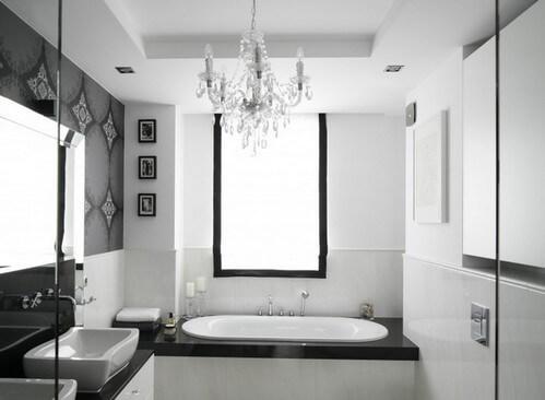 Необычный интерьер ванной
