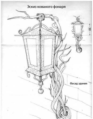 Эскиз фонаря