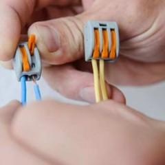 Как соединить провода клеммами WAGO разных серий