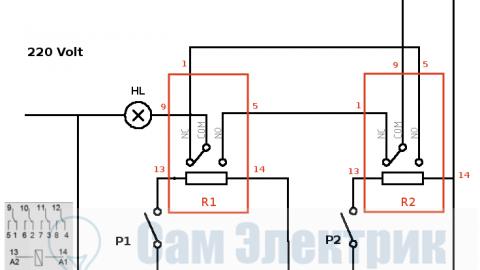 3 идеи сборки проходного выключателя света