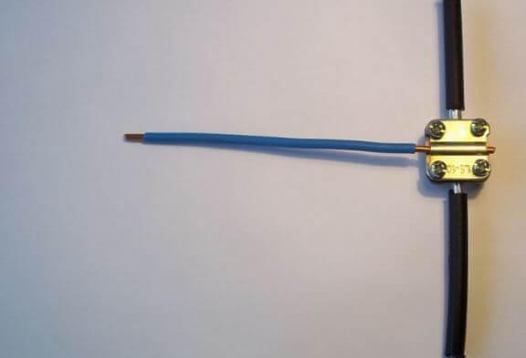 Ответвление медного проводника от алюминиевого