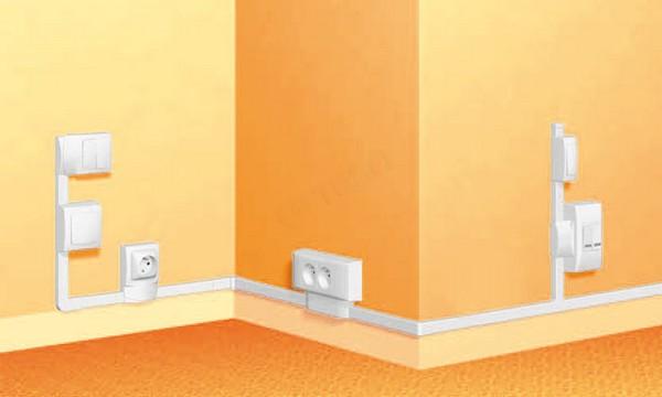 Расположение электрофурнитуры в комнате