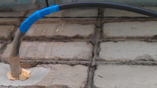 Ввод кабельной линии в дом
