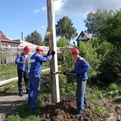 Как установить электрический столб на участке своими руками