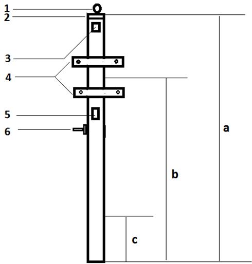 Чертеж трубостойки для щита учета электроэнергии