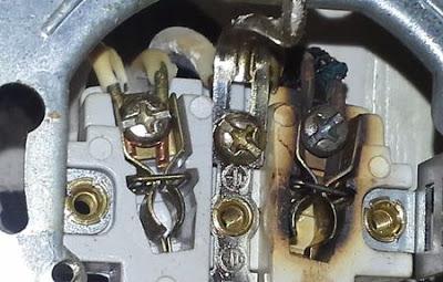 Нагар на электрофурнитуре