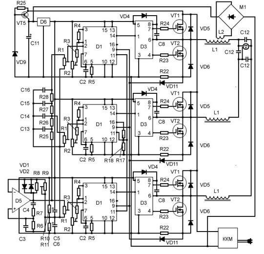Схема преобразователя напряжения 220/380