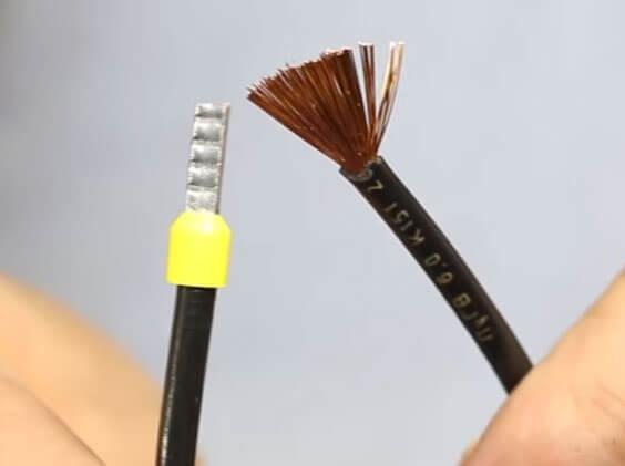 Внешний вид опрессованного проводника