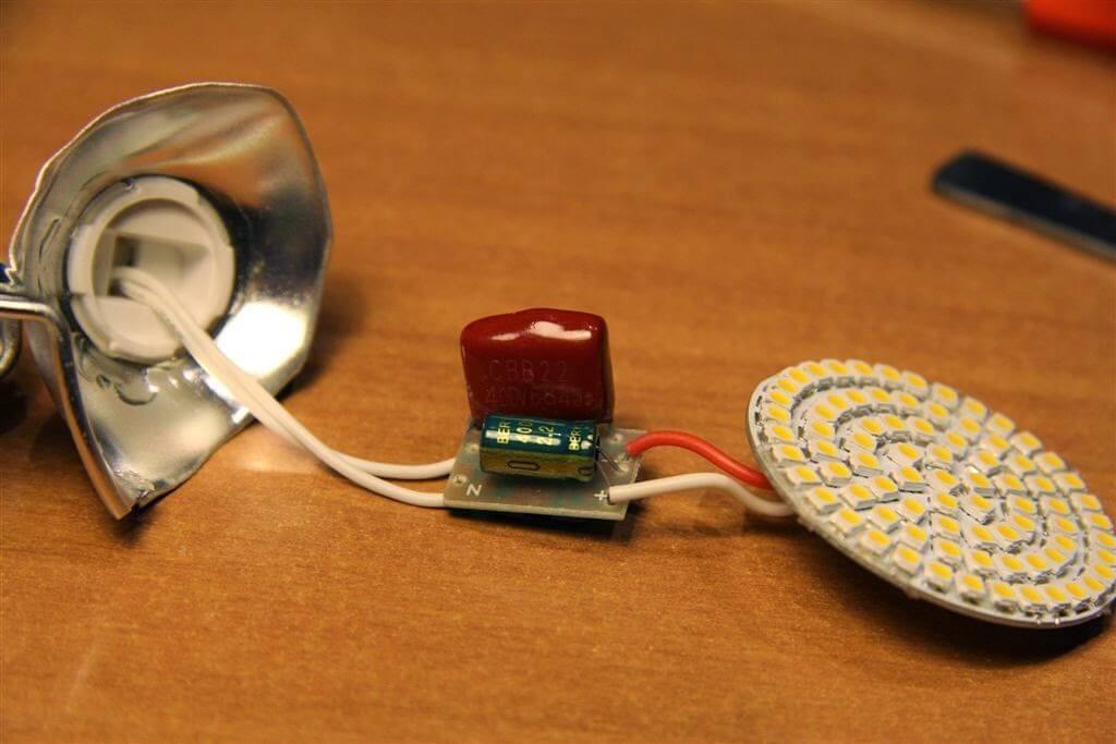Разборка LED-лампочки
