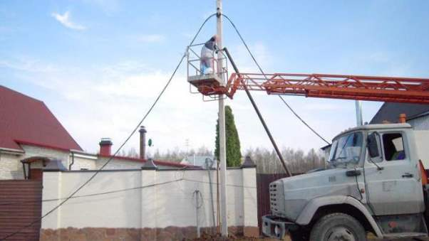 Подключение электричества на участке