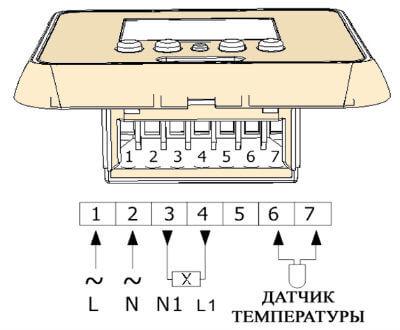 kak ustanovit termoregulyator 3 Установка терморегулятора теплого пола: видео, схема, фото Фото