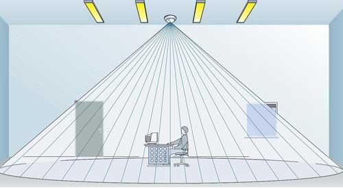 Сенсор на потолке