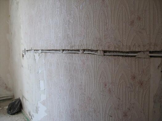 Крепление кабеля алебастром