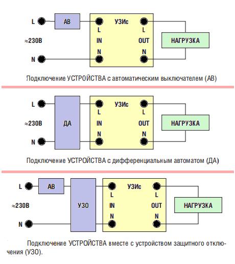 Схема подключения УЗИс