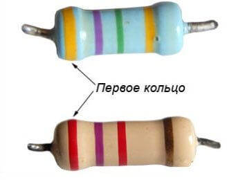 Обозначение цветными полосами