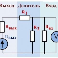 Калькулятор для расчета делителя напряжения