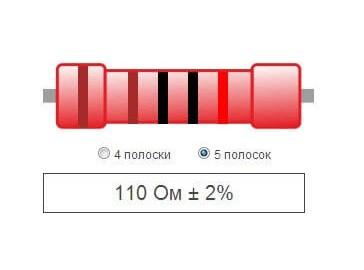 Калькулятор цветовой маркировки резисторов