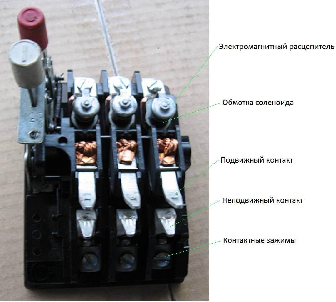 Контактная система пускателя
