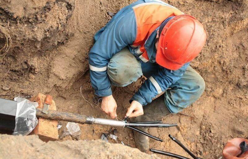 Ремонт кабельной линии в земле