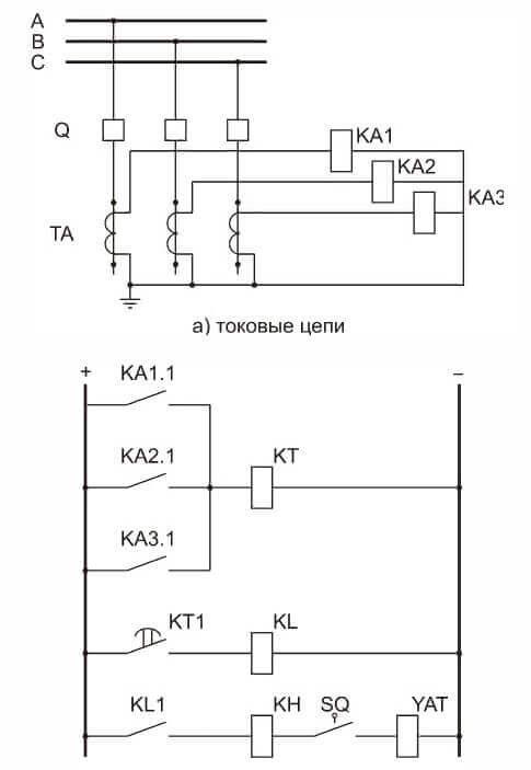 Схема на трех реле