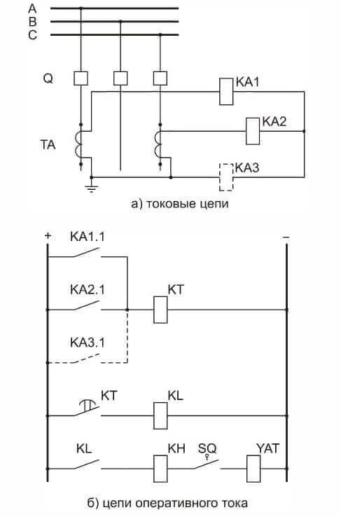 Схема на двух реле