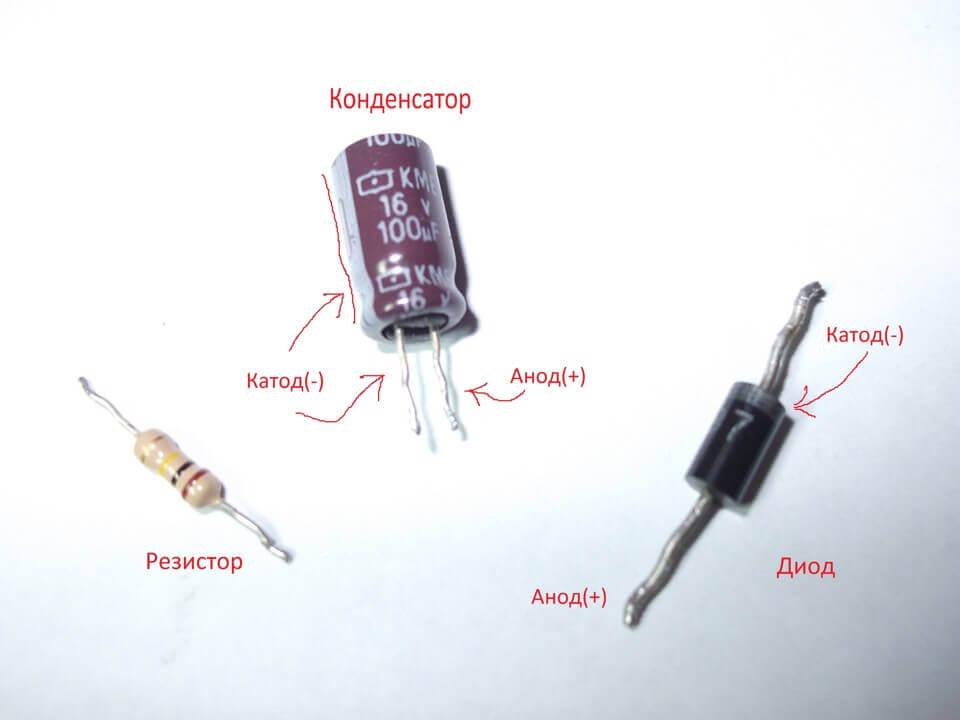 Выводы конденсатора