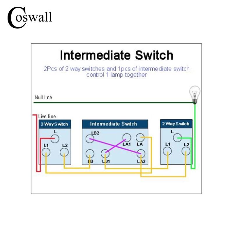 Схема подключения перекрестного переключателя