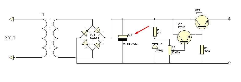 Схема фильтра блока питания