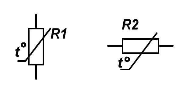Обозначение терморезистора