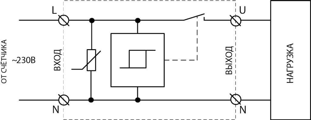 Схема подключения к сети 220В