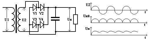 Сглаживающий фильтр из конденсатора