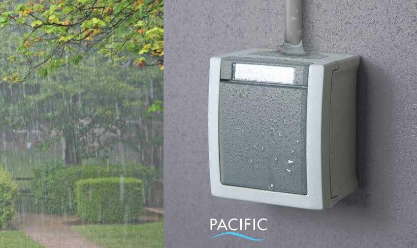 Использование Pacific под дождем