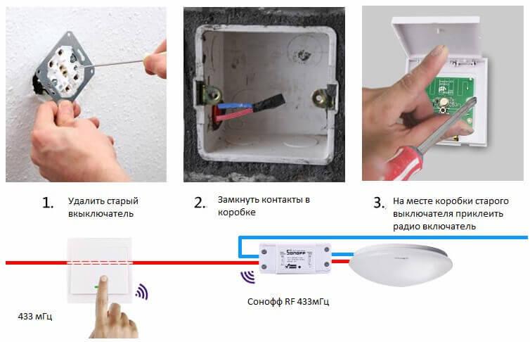 Схема замещения обычного выключателя